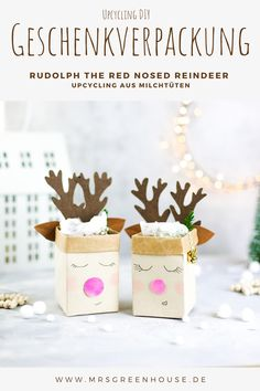 Christmas Diy, Xmas, Diy Greenhouse, Rudolph The Red, Red Nosed Reindeer, Homemade Gifts, Upcycle, Place Card Holders, Diy Crafts