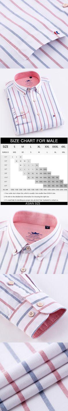 6cc21e329 Men's 100% Cotton Multi Striped Oxford Dress Shirt with Left Chest Pocket  Smart Casual Regular