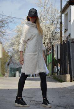 Ivory Maxi Dress / Womens Dress / Extravagant Tunic by SSDfashion