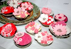 Cupcakes,  Cup cakes,  vintage cupcakes, flower cup cakes