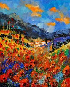 "Saatchi Art Artist Pol Ledent; Painting, ""provence 45209082"" #art"