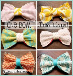 Reversible Hair Bows kids-only