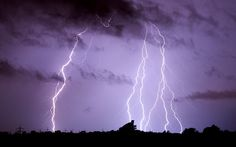 """""""Lightning strikes over Algermissen, Germany. Violent storms have killed at least six people in western Germany, felling trees and snarling road and rail traffic."""" Caption at link, photo by Julian Stratenschulte Cities In Germany, Visit Germany, Germany Travel, Holidays Germany, One World Trade Center, Lightning Strikes, Rocky Mountain National Park, Family Camping, Lightning Bolt"""