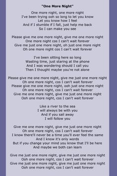 """1985 - Phil Collins """"One More Night"""" Great Song Lyrics, Pop Lyrics, Song Lyrics Art, Song Lyric Quotes, Music Quotes, Music Songs, Smile Quotes, Music Stuff, Country Song Quotes"""