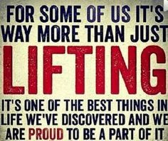 Don't Be Afraid To Lift!! Lifting weights is one of the best things that ever happened to me. There is more to lifting weights then just for our appearance and performance. Some of the other benefits I have experienced from weight lifting are it helps build mental toughness, self awareness of our physical abilities, keeps our metabolism up, burns fat, burns calories, reduce the risk of health diseases and prevents bone deficiency. It has helped me to become a better version of myself!
