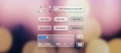 Transparent UI Kit - 365psd