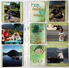 wenches skribleri: Hjemmelagede kort til lommescrapping