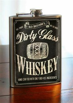 Flask - 8oz. - Dirty Glass Whiskey - Stainless Steel by Trixie and Milo    Groomsmen idea...?
