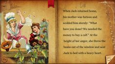 FREE app April 12th (reg 2.99) Discover the magic of Jack and the Beanstalk with the original story and animations! This interactive app presents the classic illustrations of a forgotten era with the magic of modern technology.