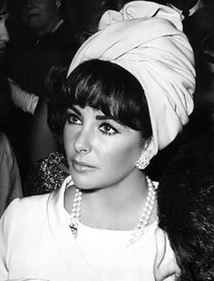 Elizabeth taylor bangs and turban