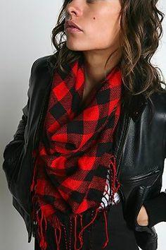 Urban Outfitters Buffalo Plaid Square scarf