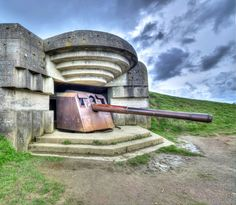 Longues sur Mer Artillery Battery at Normandy, France. See our list of WW2 and D-Day places to visit in Normandy. A Bucket list destination for anyone who's interested in military history.