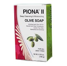 Piona  II Deep Cleansing  Moisturizing Olive Oil Soap 635 Oz  Clears Complexion and Leaves Skin Glowing  By Cherrybargains ** Click on the image for additional details. (This is an affiliate link) Types Of Facials, Facial Bar, Olive Oil Soap, Face Skin Care, Even Skin Tone, Face Cleanser, Best Face Products, Glowing Skin, Moisturizer