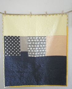 grey and yellow crib quilt | Flickr - Photo Sharing!