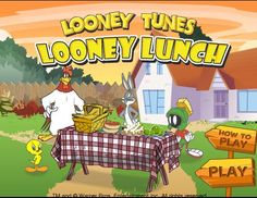 It's lunch time! Help feed the Looney Tunes characters by matching and delivering the food items! Bugs Bunny will bring meat to Taz, Foghorn Leghorn will give a bone to Barnyard, Marvin the Martian bring the vegetables to K-9 Hector and Tweety will feed with the meat. Change the position of the arrows to move to the next level.