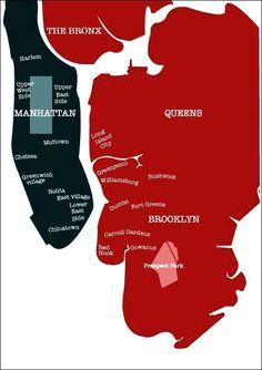 Les boroughs de New York - Voyageurs Sans Frontières Paris New York, New York City, North And South, Hiking Club, Carroll Gardens, Voyage New York, Long Island City, Upstate New York, Travel