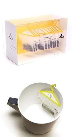 Hanger Tea Bags #product #packaging #food #design