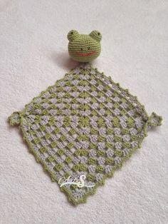 mantita de apego ranita verde,ranita para bebé,  tejida por artesesa