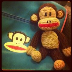 A Paul Frank ape, that I crocheted