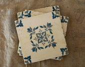 Vintage ceramic tiles from France
