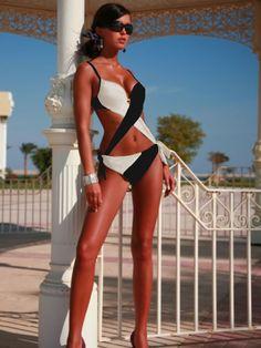 Fashion Monokini Swimsuit by Meriell Club Swimwear  underwire padded cups swimsuit