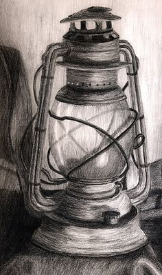 Lantern Drawing - Lantern by Karla Horst Still Life Sketch, Still Life Drawing, Still Life Pencil Shading, Painting Still Life, Pencil Art Drawings, Art Drawings Sketches, 3d Pencil Sketches, Pencil Sketching, 3d Pencil Art