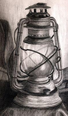 Lantern Drawing - Lantern by Karla Horst Still Life Sketch, Still Life Drawing, Still Life Pencil Shading, Art Drawings Sketches Simple, Pencil Art Drawings, 3d Pencil Sketches, Pencil Sketching, Beautiful Pencil Drawings, Horse Drawings