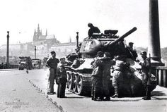 Prague Spring, Tank I, Old Photography, Yesterday And Today, Old Postcards, War Machine, Czech Republic, Time Travel, Old Photos