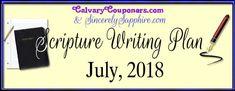 July 2018 Scripture