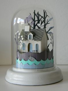 Island Cottage Glass Dome.