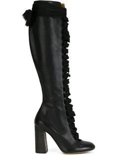 Shop Chloé lace-up knee high boots in  from the world's best independent boutiques at farfetch.com. Shop 300 boutiques at one address.