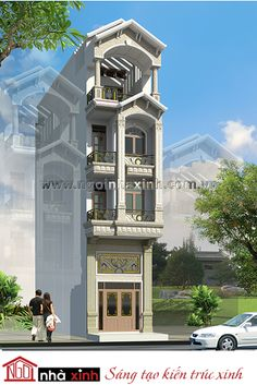 Just needs a garage! Brick House Designs, House Front Design, Dream House Interior, Luxury Homes Dream Houses, 2bhk House Plan, Fachada Colonial, Hut House, Narrow House, Beautiful Villas