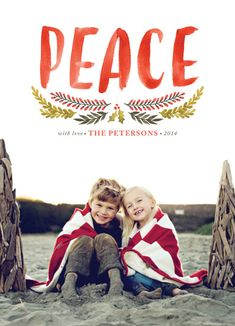 Vote for winning designs at Minted! Watercolor Brush Peace by Annie Mertlich