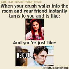 GRACE, I do this all the time when a certain someone walks into the room. Lol.... hahahahahahahah >:)