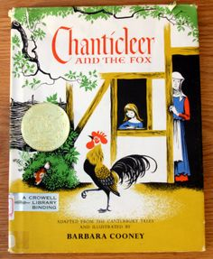 Chanticleer and the Fox by Barbara Cooney  by GwynysVintageKitsch, $45.00