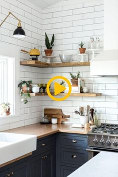 Room Of The Week Vintage Eclectic Barn Living Space Styled Open Shelving In The Kitchen Of This Vintage Eclectic Barn Room Of The Week Coco Kelley Cheap Kitchen, Diy Kitchen, Vintage Kitchen, Kitchen Decor, Kitchen Cabinets, Open Cabinets, Kitchen Ideas, Kitchen Designs, Kitchen Shelves