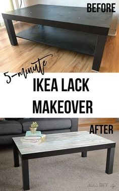 Ikea Lack Coffee Table Makeover - The Easiest kind - Couchtisch Coffee Table Hacks, Ikea Lack Coffee Table, Coffee Table Makeover, Coffee Tables, Ikea Table Hack, Lack Table Hack, Ikea Lack Hack, Furniture Makeover, Cool Furniture