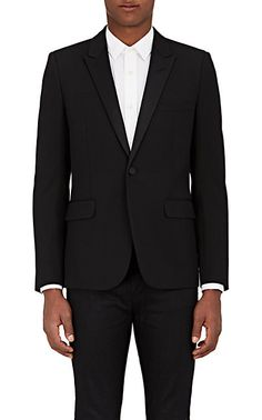 We Adore: The Wool Piqué Tuxedo Jacket from Saint Laurent at Barneys New York