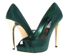 RSVP 'Abilyn' green and gold high heel sandals - Shoe Gold High Heel Sandals, Gold Shoes, Shoes Heels, Dress Shoes, Pumps, Stilettos, Dress Outfits, Dresses, Bridal Shoes