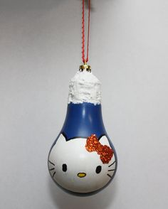 Hello Kitty Bulb Ornament by SewCharmingCrafts on Etsy, $7.00