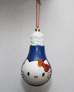Hello Kitty Bulb Ornament by SewCharmingCrafts on Etsy, $7.00
