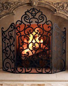 Votive wrought iron fireplace screen decorative fireplace screens fireplace screen teraionfo