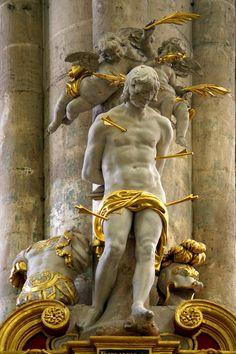Saint Sébastien, Cathedral of Amiens Amiens France, Statue Ange, Renaissance, St Sebastian, Inspiration Art, Religious Art, Oeuvre D'art, Art History, Buddha