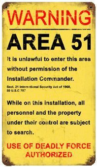 Area 51 Orange Roswell New Mexico Warning sign metal plaque pubs Printed aluminium metal plaque. Would look great in any bedroom, bar, or office for great home decor. Aliens And Ufos, Ancient Aliens, Atlantis, Military Signs, Unexplained Phenomena, Facts You Didnt Know, Vintage Metal Signs, Ufo Sighting, Conspiracy Theories