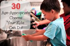 Let's talk about age appropriate chores for kids. What chores should they be doing and what age? And should we tie chores to rewards such as allowances?