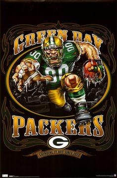 Green Bay Packers Poster Running Back Mascot New in Pkg 2010 Green Bay Packers Fans, Nfl Green Bay, Green Bay Packers Wallpaper, Falcons Football, Packers Football, Football Baby, Football Crafts, Football Gear, Football Stuff