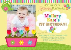 Spring Blooming Flowers Garden Birthday by ShutterbugSentiments, $18.00