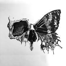 Výsledek obrázku pro death butterfly tattoo black