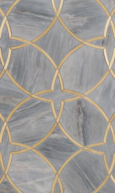 Moscow Petite Water Jet Mosaic by Mosaïque Surface Could be a metallic inlay - recreation of tile Floor Patterns, Tile Patterns, Textures Patterns, Floor Design, Tile Design, Classic Decor, Pattern Texture, Gold Pattern, Motif Art Deco