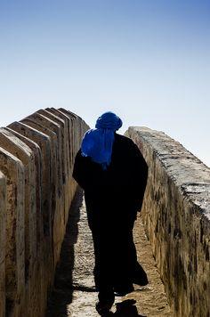 A man at the old Casbah of Agadir (Morocco - Agadir) - Maroc Désert Expérience tours http://www.marocdesertexperience.com